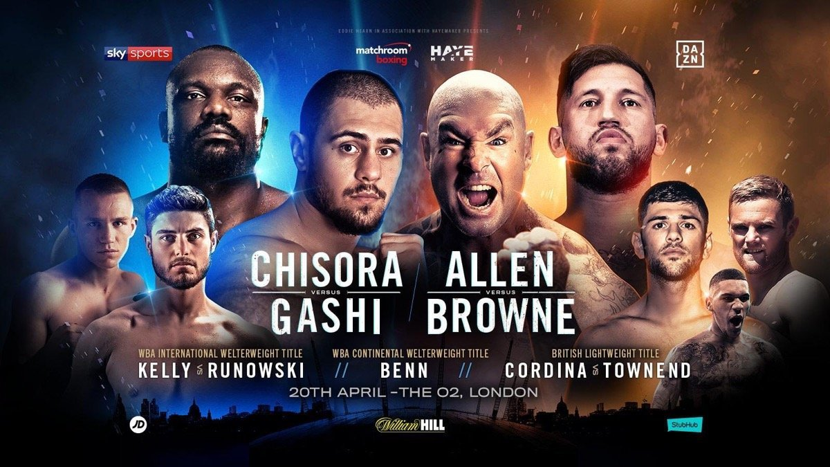 Chisora vs Gashi - April 20 - DAZN @ The O2 in London  | England | United Kingdom