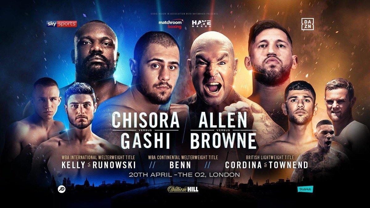 Chisora vs Gashi - April 20 - DAZN @ The O2 in London  | England | United Kingdom