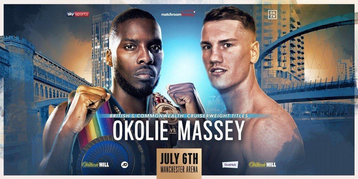 Okolie vs Massey – July 6  – DAZN & Sky Sports