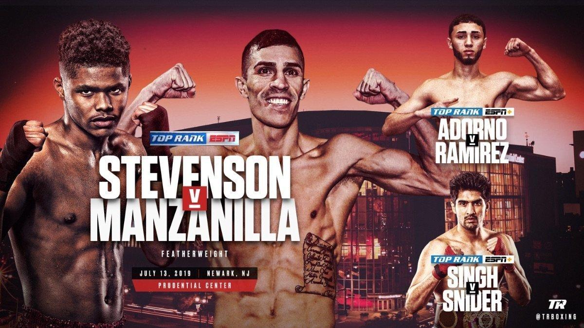 Stevenson vs Manzanilla - July 13 - ESPN @ Prudential Cente | Newark | New Jersey | United States