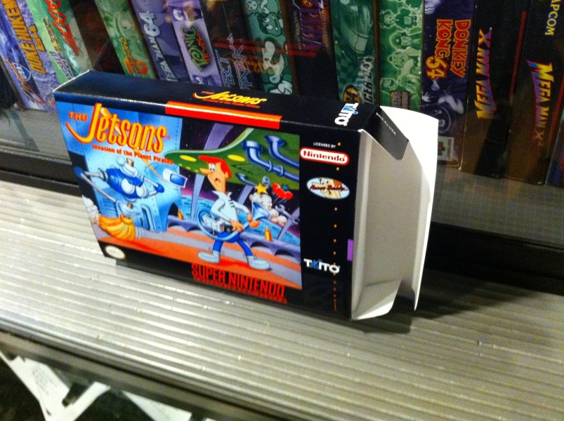 SNES The Jetsons boxBox My Games  Reproduction game boxes Jetsons  The  SNES