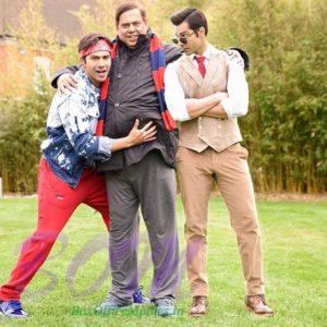 Raja and Prem Varun Dhawan with father David Dhawan for Judwaa 2