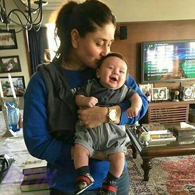 Kareena Kapoor Khan with her son