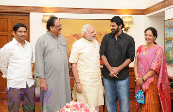 Prime Minister Narendra Modi Ji with Bahubali movie star Prabhas