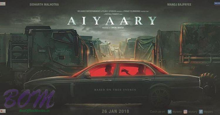 Siddharth Malhotra starrer AIYAARY movie first poster released on 6 April 2017