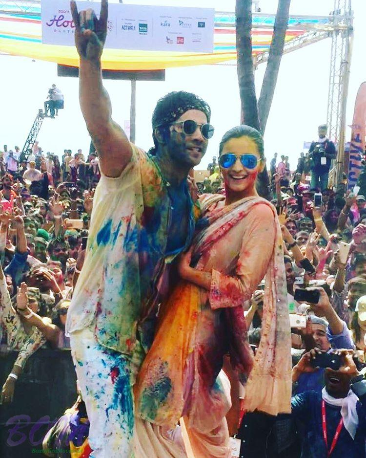 Varun Dhawan with Alia Bhatt in Holi 2017