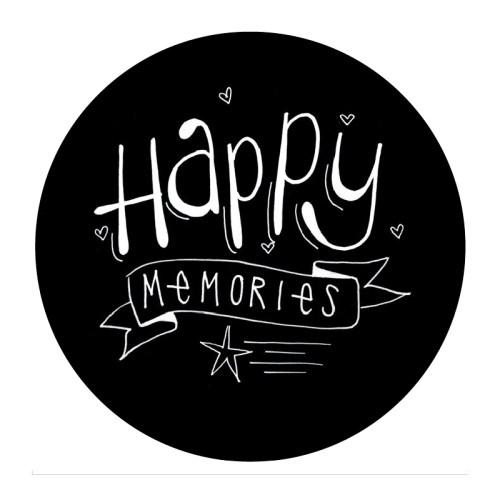 Happy memories. zwart