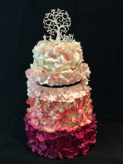 Card Box, Flowers covering box, 3 tier, money card box, red, pink, cream, mr and mrs topper, custom card box, Flower Delight