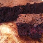 Raspberry dark chocolate brownies