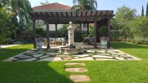 pergola, arbors, outdoor living, fountains