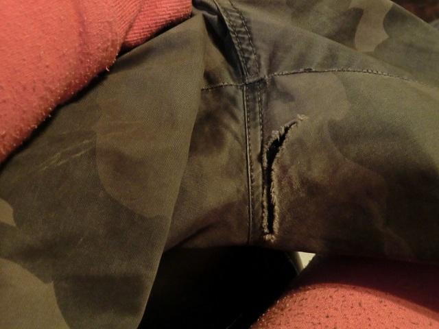 布用ボンドでズボン補修