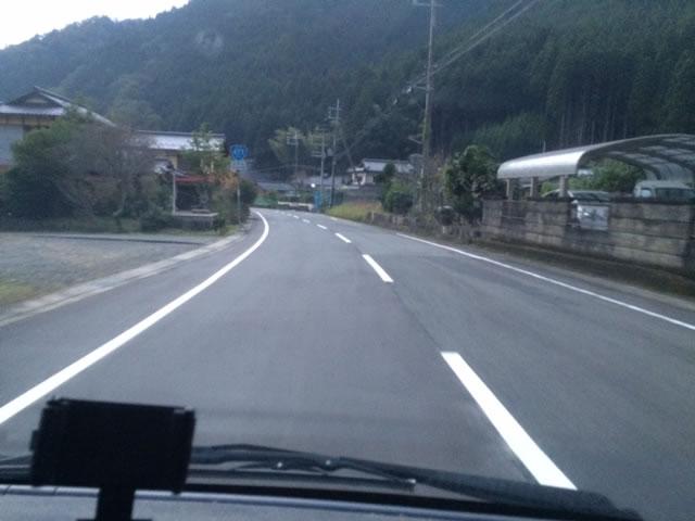 京北総合射撃場への道