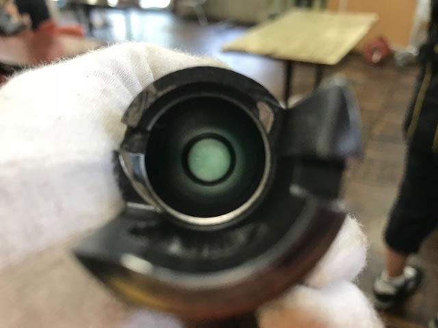 ボアスネークで銃身掃除