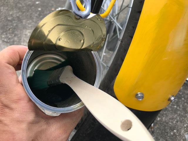 クロスカブをDIYで黄色→つや消しグレーに全塗装してみた。