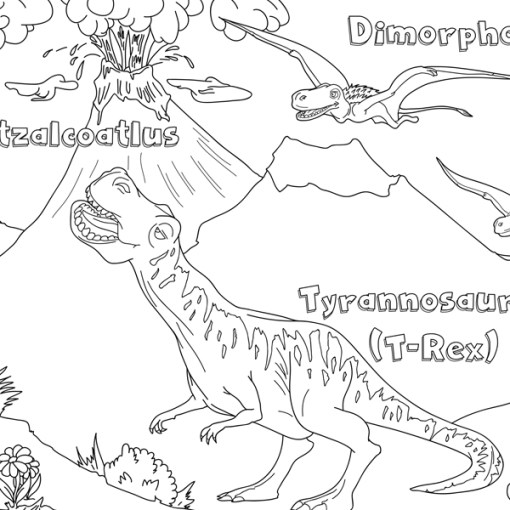 dinozorlar boayama kağıdı 2