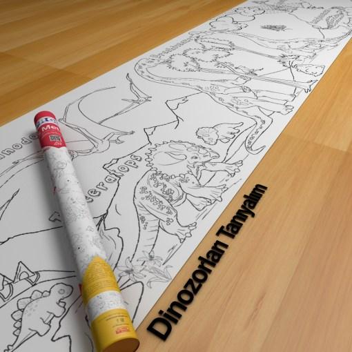 Dinozor Boyama Kağıdı