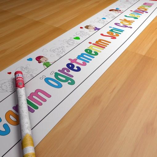 Öğretmenler günü boyama kağıdı