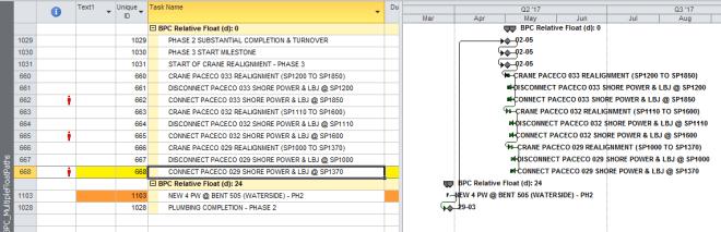 Figure 5: Target Task Output from BPC Logic Filter