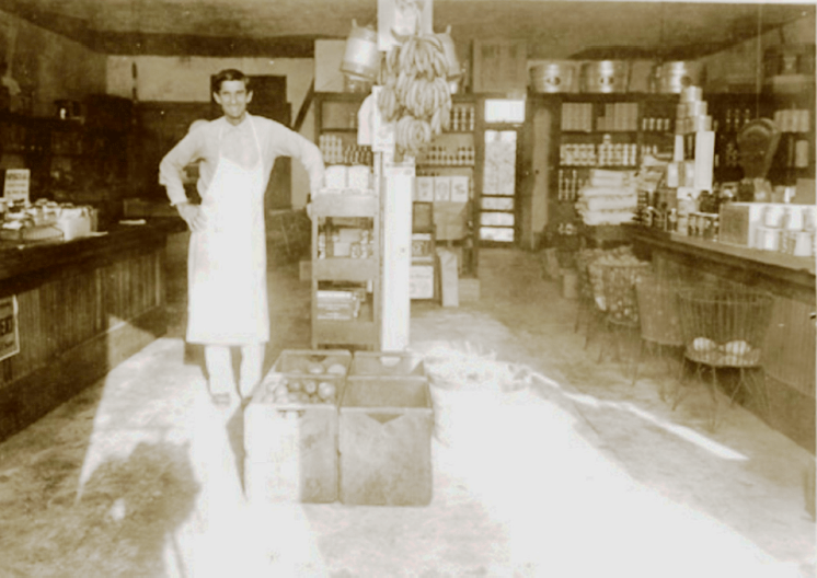 Terry Ward in his grocery store.
