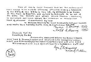 Plat Signatures
