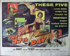 The 27th Day Poster (1957)