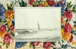 Postcard of the 1909 shipwreck, the Coquimbo