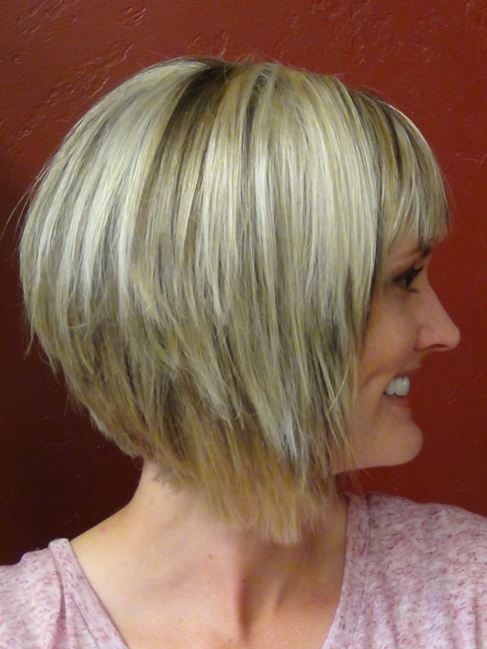 Short Stacked and Short Straight Hairstyles