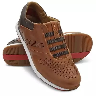Easiest On and Off Leather Athletic Shoes