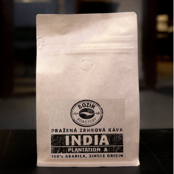 Prazena zrnkova kava - India Plantation A Single origin arabica