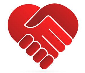 Handshake Heart Hands