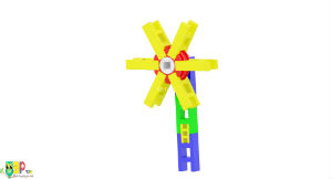 use Lasykids blocks to build pin wheel