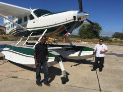 Chris and Jaris with Seaplane