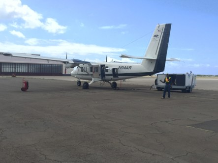 Chris with Twin Otter