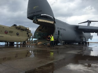 Fred and Steve with C5 Loading Chinook