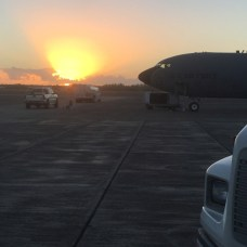 Sunrise on KC-135