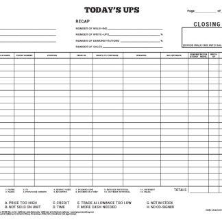 Car Dealership Customer Log Book