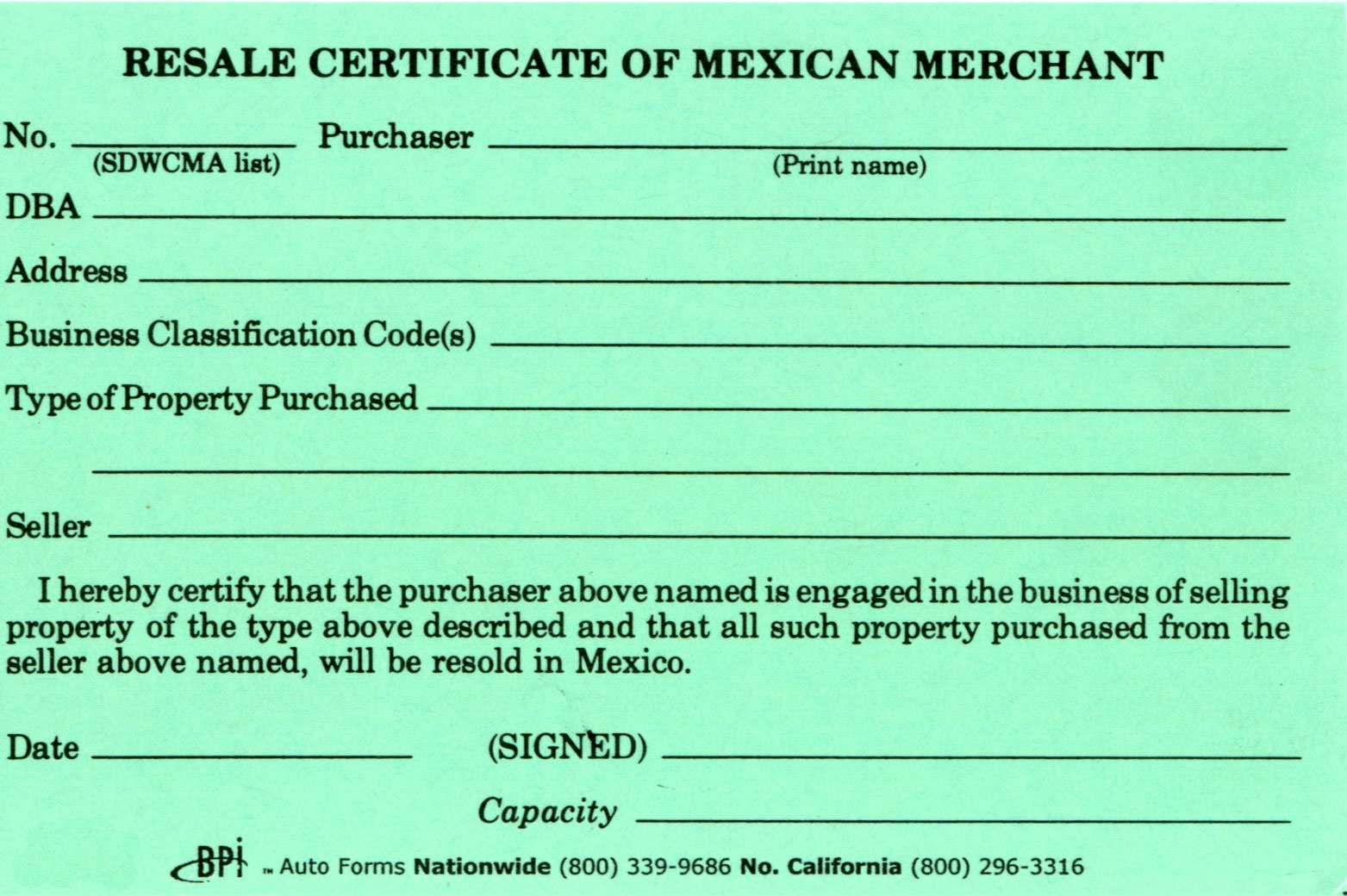 Certificate resale mexican merchant bpi dealer supplies certificate resale mexican merchant 1betcityfo Image collections