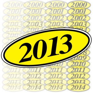 Year & Model Stickers