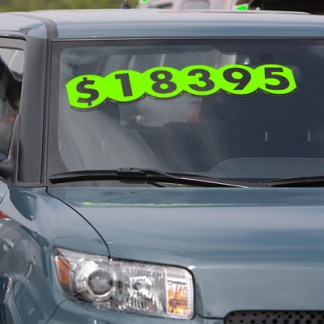 Bubble Number Windshield Stickers
