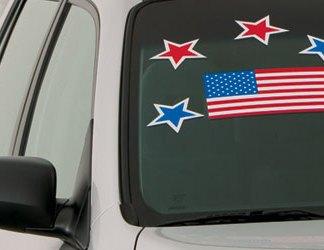 ... US Flag Windshield Sticker $ ...