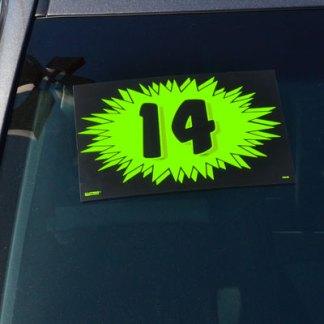 Green Burst Windshield Stickers
