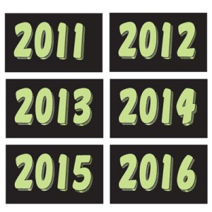 Green Year Winshield Stickers