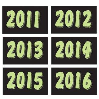 Green Year Winshield Stickers