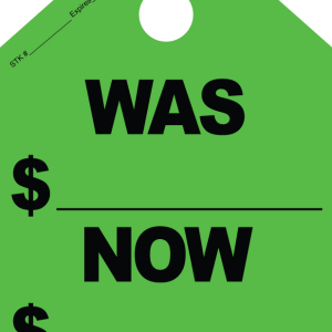 Fluorescent Green Mirror Tags