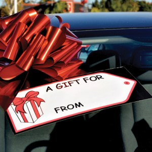Gift Tag Windshield Stickers