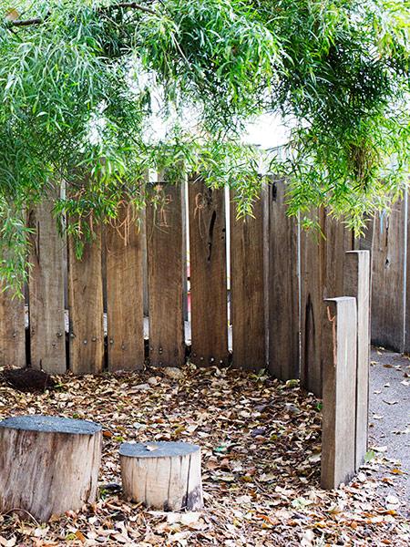 Outdoor play area at Batman Park Kindergarten.