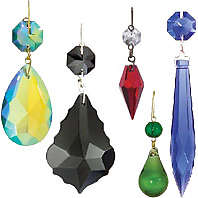 Traditional Colored Lamp Crystals And Pendalogues