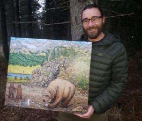 artist holding