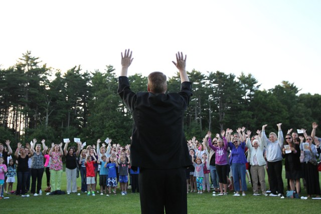 9. Father Chris Hickey leads a prayer vigil at Nortre Dame Academy for the Cronk family.  Says Kevin Cronk, ÒShe has touched literally thousands of hearts around the world, inspired the Hope for Caroline foundation to end DIPG, united the community, and brought people closer to God.Ó