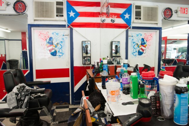 Barbershop in East Boston, MA.